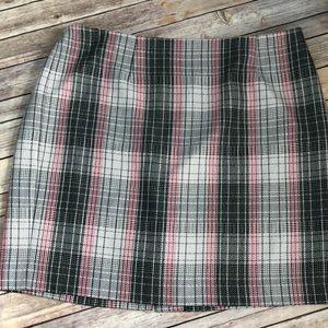 Talbots 22W Greta and pink plaid dress skirt